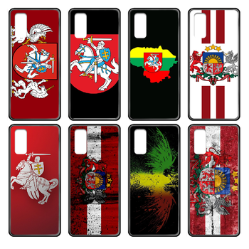Lithuania Latvia flag Phone case cover hull For Samsung Galaxy J S 3 4 5 6 7 8 9 10 Prime Plus Lite Edge black back silicone image