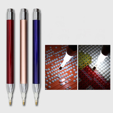 Pen Painting Square 5d-Point-Drill Round with Diamonds-Accessories