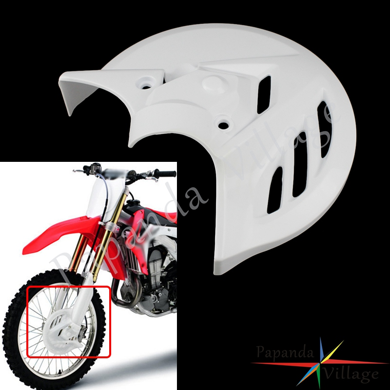 Motorcycle Front Brake Disc Rotor Protection Guard Cover Protector Mount For Honda CRF250R 2014-2017 CRF450R 2013-2016 Motocross