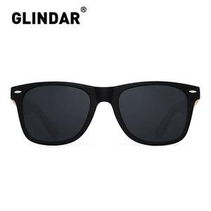 Image 2 - Çizgili çerçeve Retro ahşap polarize güneş gözlüğü marka tasarım erkekler kadınlar Retro güneş gözlüğü sürüş lentes de sol
