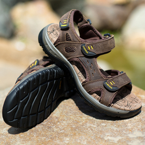 Image 5 - SURGUT 2021 New Men Sandals Summer Leisure Outdoor Beach Men Casual Shoes High Quality Genuine Leather Sandals  Mens Sandals