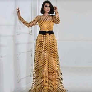 MD Robe Africaine Polka Dot Mesh Dresses For Women Plus Size Party Gowns Ladies Ankara Dashiki Clothing 2020 Autumn Fashion 182#