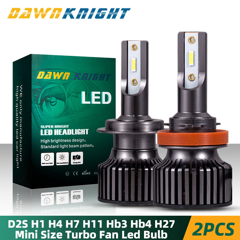 2PCS H4 Car Led Headlight H1 H4 H11 9005 HB3 9006 HB4 H27 D2S D2R H7 Led Bulb CSP 10000LM 6000K Mini Size Car Headlight Bulb Led