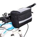 Велосипедная Изолированная Передняя сумка MTB для велосипеда  держатель для телефона  сумка на руль  корзина  сумка-холодильник с полоской  А...