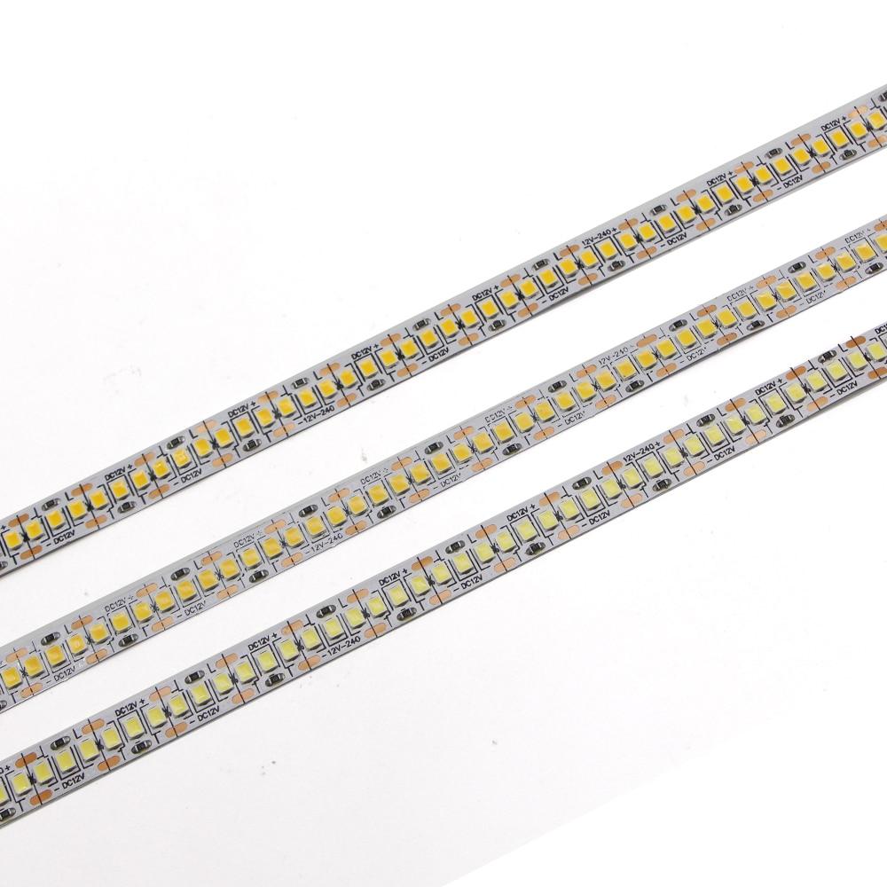 5m 2835 led strip light cri> 90 240 leds/m flexível fita string lâmpada mais brilhante do que 3528 3014 branco quente/branco/4000k branco