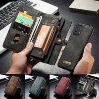 Magnético caja de teléfono de cuero para Samsung Galaxy A32 A12 A52 A72 A51 A71 A20 A30 A40 A50 A70 A20E A30S A50S cartera cubierta de la tarjeta de Etui