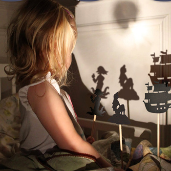 Kids Fairy Tale Story Shadow Puppets Imagination Educational Toys for Children interactive game Projection Art Games Gift Set zthand made professional craftsmen choose creative decoration children s imagination uniqueness teaching wood art set for kids