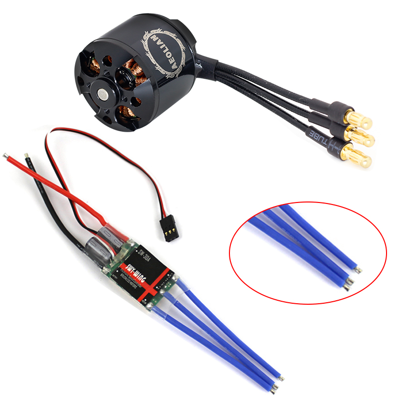 Aeolian 2836 A2216 880KV Brushless Outrunner Motor +30A ESC Quad-Rotor Set For RC Aircraft Multicopter +free Shipping