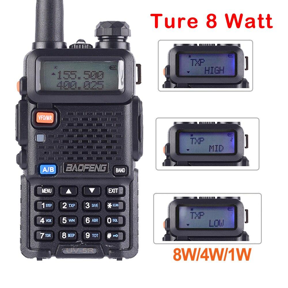 BaoFeng UV-5R 8W powerful Walkie Talkie 8Watts 10KM Triple-power Two way radio