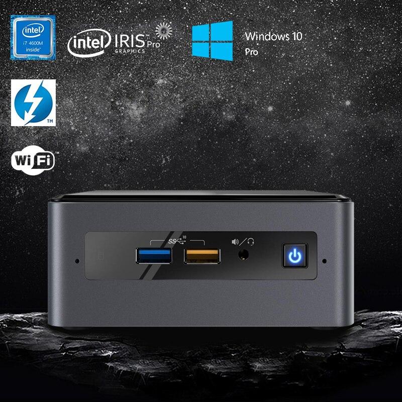 Intel NUC Mini PC Quad-Core I7-8559U Upto 4.5GHz Windows 10 Pro WiFi Bluetooth Thunderbolt 3 4k Support Dual Monitor Capable