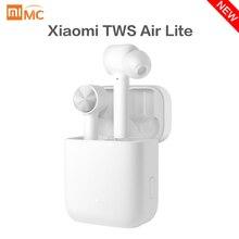 Оригинальные беспроводные наушники Xiaomi Mi True Air Lite TWS Bluetooth гарнитура AAC Tap стерео управление двойной микрофон ENC с микрофоном Handsfree