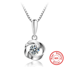 Necklaces-Pendant Jewelry Zircon Crystal 925-Sterling-Silver Color Women New for AAA