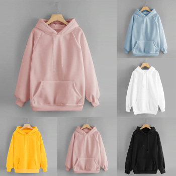Fashion Women Sweatshirt  Hoodies Pocket Solid Color Casual Hooded Loose Drawstring Pullover Hoodies Long Sleeve Winter Clothes women solid color plush hooded sweatshirt autumn winter long sleeve loose warm hoodies coat pockets casual fashion outwear tops