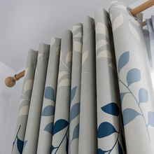 Modern Printed Thermal Blackout Curtains For Living Room Bedroom Window Curtain Drapes Leaves Thick Curtains  treatment Blinds modern castle printed blackout curtains for living room bedroom window thick curtain drapes children cloth curtains for kid