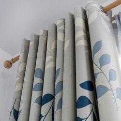 Moderna Tende Oscuranti Per Soggiorno camera Da Letto Tenda di Finestra Tende Foglie Spesse Tende trattamento Cieco Tende In Tessuto Deco