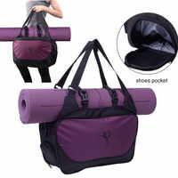 Bolsa De Yoga Mat Bolsa De gimnasio para Mujer 2019 Bolsa De Deporte para hombres Bolsa deportiva Bolsa Deporte Mujer Tas Bolso Mujer XA66A