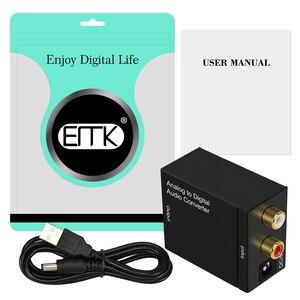 Image 5 - EMK convertisseur Audio analogique numérique adaptateur ADC 2 entrée RCA R/L sortie coaxiale Toslink convertisseur optique SPDIF haut parleur TV DVD
