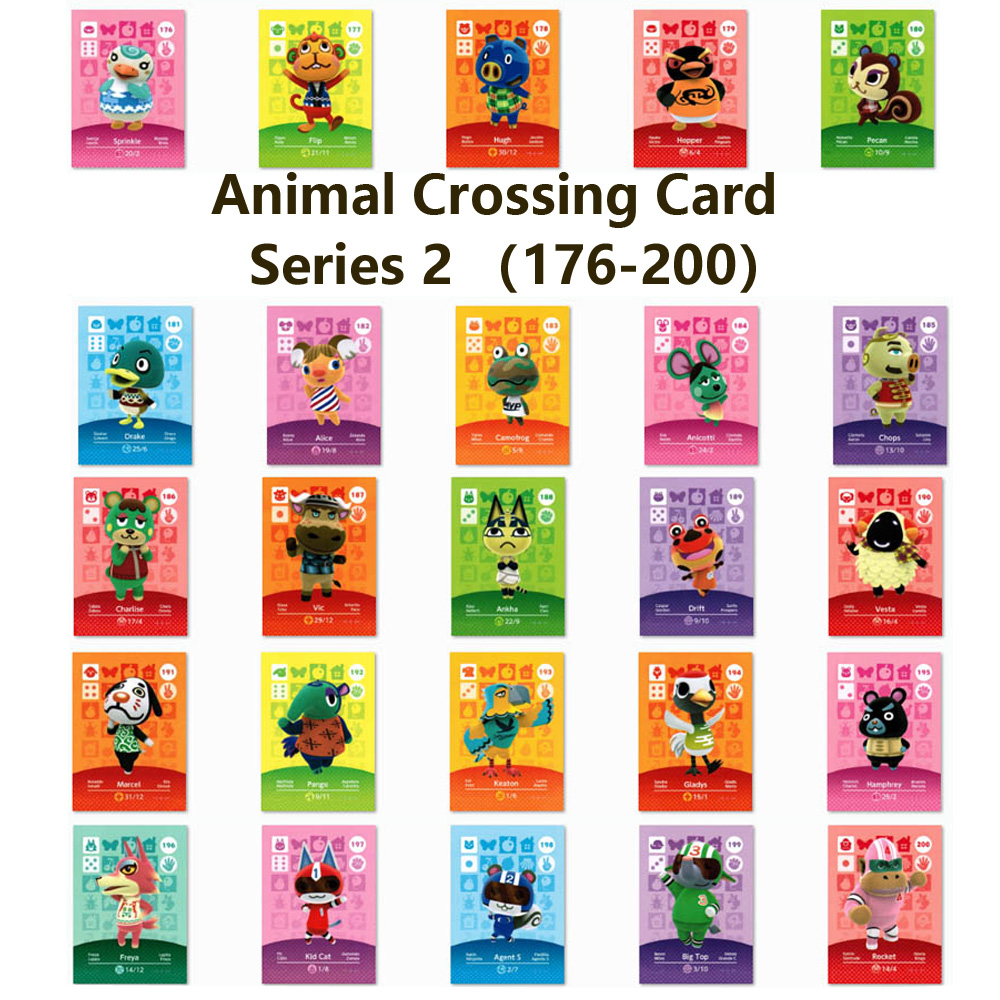 Series 2 (176 To 200) Animal Crossing Card Amiibo Locks Nfc Card Work For NS Games Series 2 (176 To 200 )