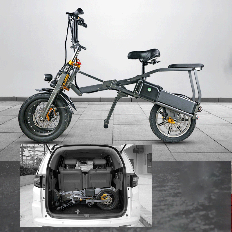 JX003 High speed electric bike 350w 48V 3 wheel foldable electric bicycle e scooter 8