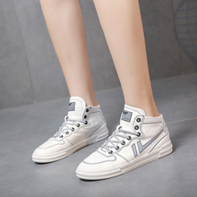 Autumn New Women White Sneakers 2019 Fashion Skateboard Shoes Reflective Casual Sports