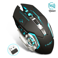 цена на NewProfessional Pro Gamer Adjustable 2400DPI Optical Wireless Gaming Mouse Gamer Mice For PC Laptop Desktop Computer Accessories
