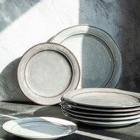Europäischen stil Utopia keramik geschirr lebensmittel steak stunning platte haushalt Frische Obst Salat schüssel platte porzellan geschirr