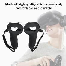 Novo vr controlador alça capa de silicone proteção completa vr para oculus suor-prova e antiderrapante acessórios manga ques y3k6