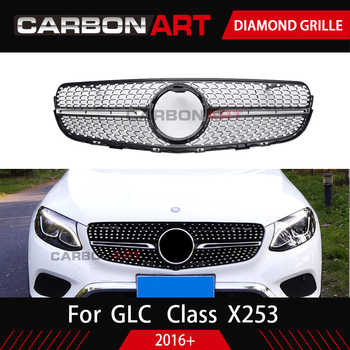 GLC class X253 front grille Car benz Front diamond Grille for MB GLC class X253 Silver Chrome black Design ABS replacement