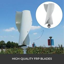 Wind turbine white Three-phase spiral permanent magnet Vertical