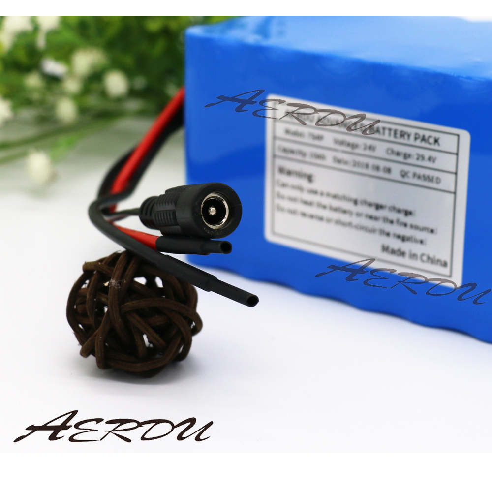 AERDU 25.9v 24V <font><b>10Ah</b></font> 450watt 20A BMS <font><b>29.4V</b></font> Li-ion Battery Pack For Electric Unicycles moped ebike Scooters light bicycle power image