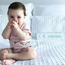 P15C Baby Toddler Milestone Photo Prop Flip Book Pregnant Photo Background Festival Album