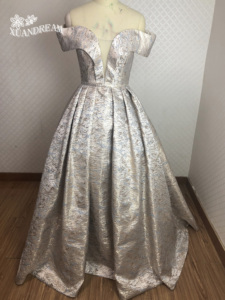 Image 1 - 2019 Specail occasion print robe de soirée courte form long prom dinner gowns pleat puffy skirt  women prom dress XD 48
