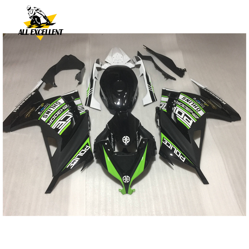Black Motorcycle Fairing Kit Complete For Kawasaki Ninja 300 EX300R EX-300R EX 300 13-14 ABS Injection Molding Fairing Body Work