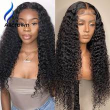 Alicrown 13x4 Full Frontal Curly Lace Front Human Hair Wigs Brazilian Wigs For Women Human Hair Wig 4x4 Closure Wig Pre plucked