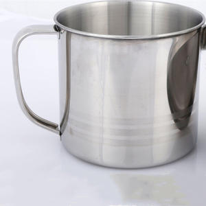 Stainless Steel D Shape Handle Cups Coffee Water Mug Camping Travel Drinking Cup