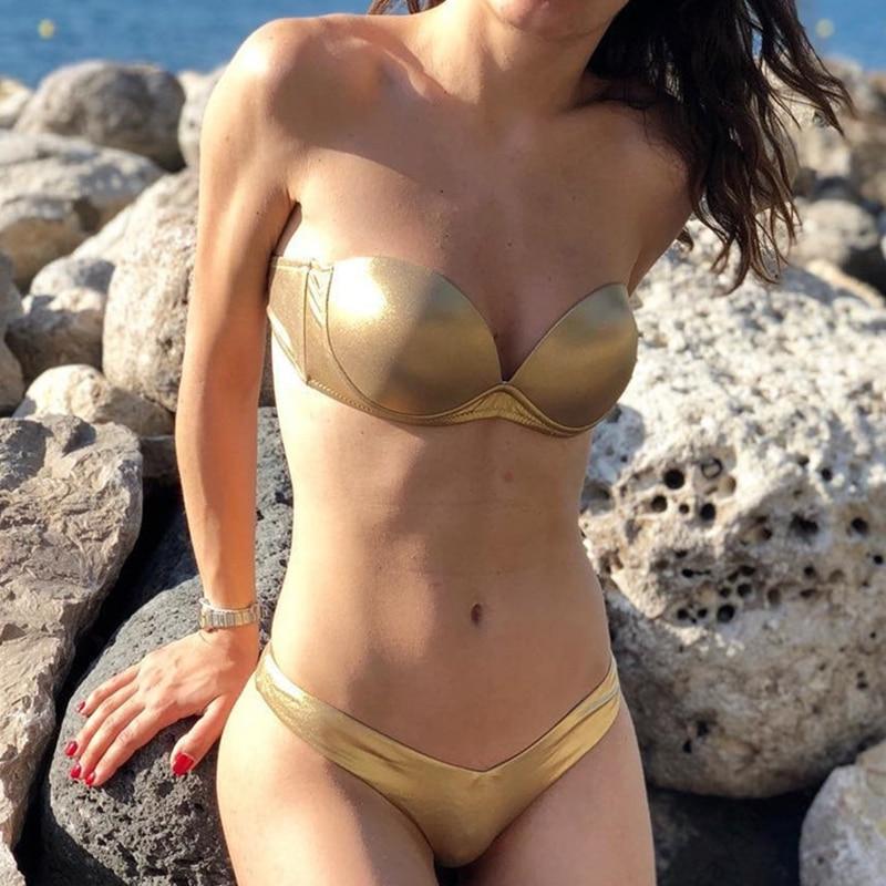 2019 Sexy Flowers Bikinis Women Swimsuit Push Up Bikini Ruffle Swimwear Brazilian Bathing Suit Beachwear Swimming Suit For Women