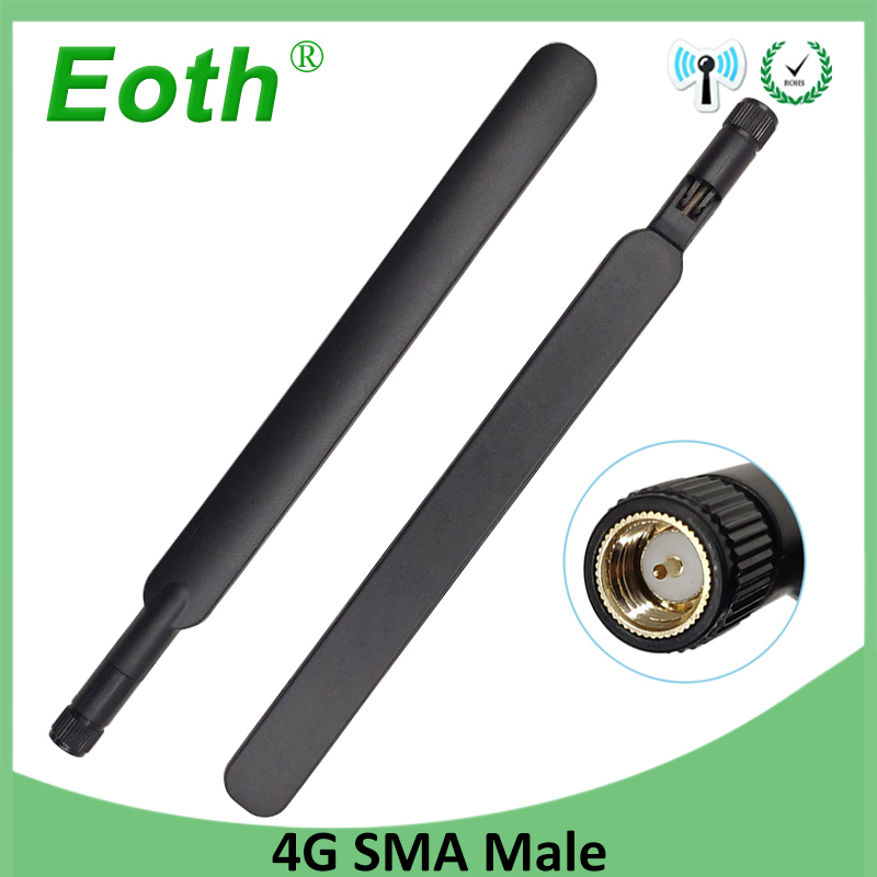 1pcs 4G Lte Antenna 5dbi SMA Male Connector Plug Antenne For Huawei B593 4G LTE Router External Repeater Wireless Modem Antennas