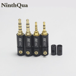 1Pcs 2.5 / 3.5 mm 3 / 4 Pole Stereo Male Jack 2.5mm 3.5mm Audio Plug DIY Soldering Adapter for 2mm 4mm 6mm Cable Connector