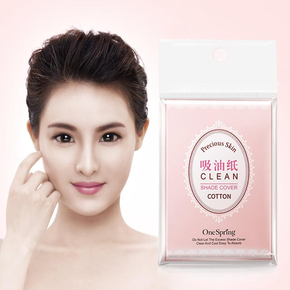 100x Facial Oil Control Film Wipes Sheets Absorbing Face Blotting Paper Grease Oil Absorption Portable