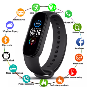 M5 Smart Bracelet Heart Rate Blood Pressure Health Waterproof Smart Watches M5 Bluetooth Watch Wristband Fitness Tracker
