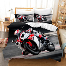 Motorcycle 3d Bedding Set Duvet Covers Ducati Isle of Man TT Motorcycle Racing Comforter Bedding Sets Bedclothes Bed Linen(China)