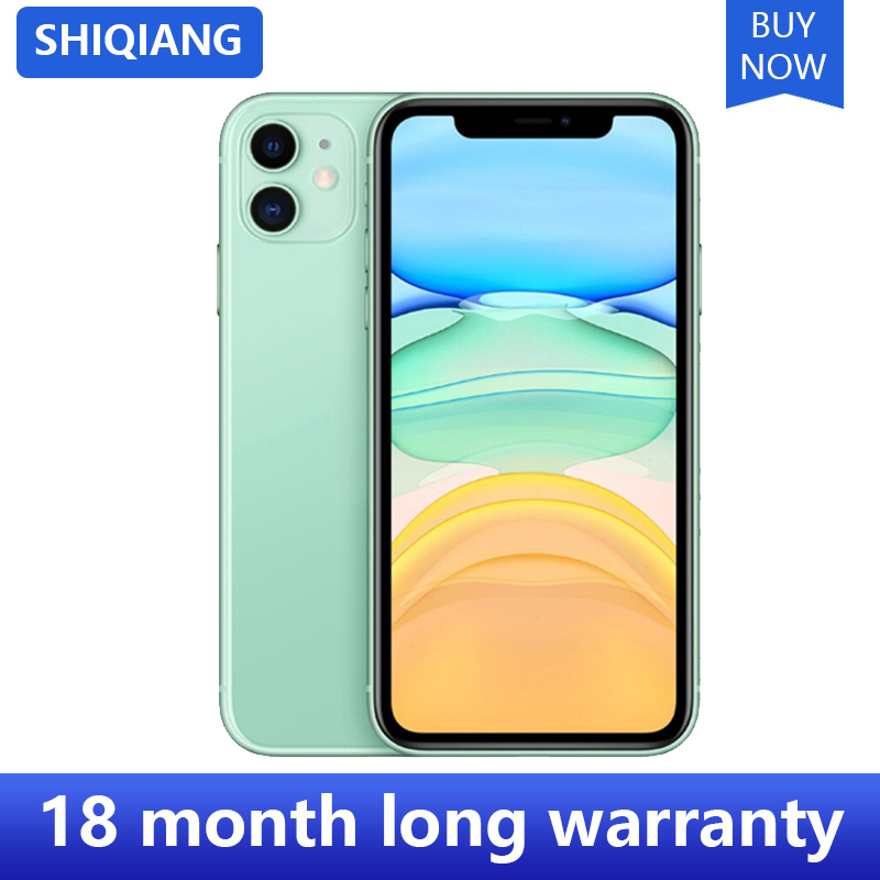 "Original Unlocked Apple iPhone11 Mobile Phone 6.1"" inch Full OLED Display 64/128/256GB ROM IOS Hexa Core A13 4G LTE SmartPhone"