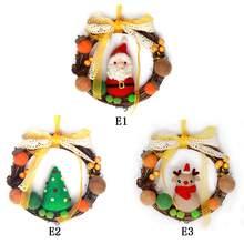 Рождественский венок, шерсть, чувственная гирлянда, Набор для творчества, шерстяной войлок ручной работы, набор для украшения своими руками