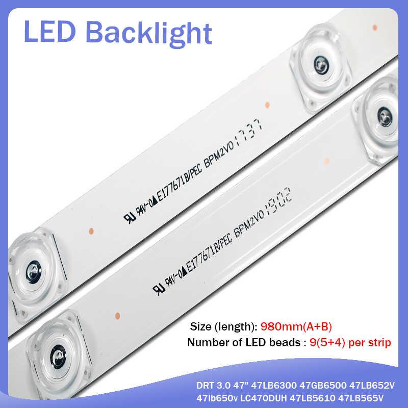"98Cm Led Backlight Lamp Strip 9 Voor Lg Tv Innotek Drt 3.0 47 ""47LB6300 47GB6500 47LB652V 47lb650v LC470DUH 47LB5610"