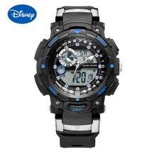 Disney Многофункциональный двойной дисплей движение часы водонепроницаемый световой студент часы мальчик часы дети часы