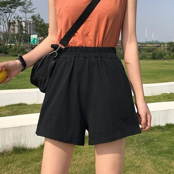 Seaside Beach Vacation Wind Solid Color Shorts Summer Women High Waist Casual Loose Wide Leg брюки женские