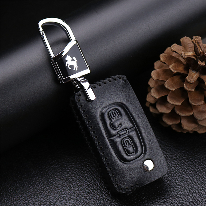 <font><b>Car</b></font> Keychain Keyrings <font><b>Key</b></font> Bags Cover <font><b>Case</b></font> For <font><b>PEUGEOT</b></font> 207 <font><b>307</b></font> 308 407 408 For Citroen C3 C4 C4L C5 C6 <font><b>Protect</b></font> Shell <font><b>Car</b></font> Styling image
