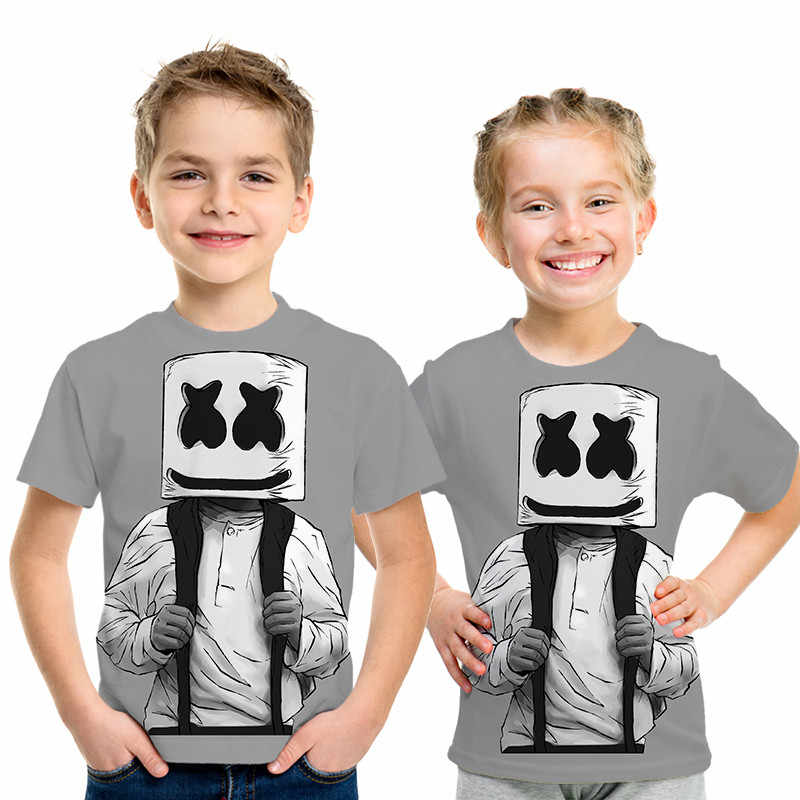 Very Cool marshmallow 3D T Shirt Boy / Girl T-shirt 3D Print Casual Summer Popular Fashion Short sleeve Cool top Teenager Fans