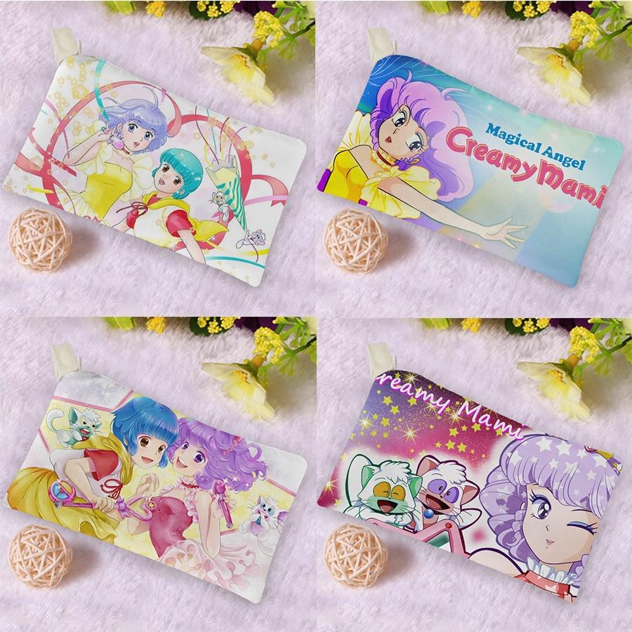 Fashion Women Magical Angel Creamy Mami Canvas Wallets Ladies Phone Bag Wallet Short Zipper Coin Purse Money Bags