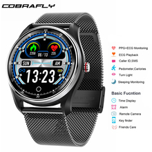 Cobrafly NEW MX9 ECG+PPG Smart Watch Men with electrocardiogram display heart rate blood pressure Band Fitness Tracker